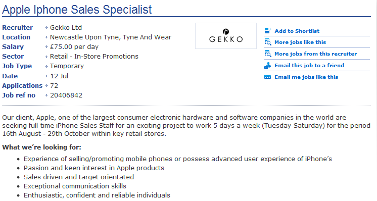 Apple Hiring for iPhone 5 Launch, A5 Overheating?