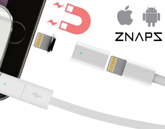 ZNAPS: Magnetic Adapter for iPhone & Android Phones ...