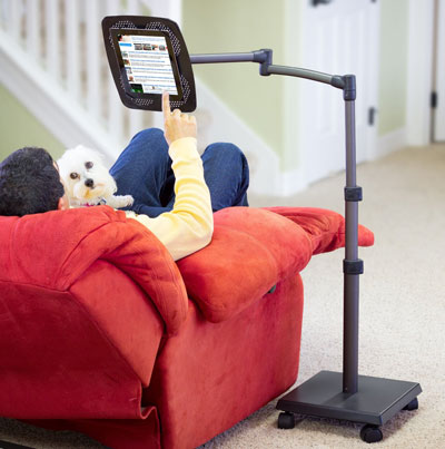levo deluxe ipad floor stand a versatile stand that lets you sit recline or lie in bed to view content on your tablet lets you use your tablet in
